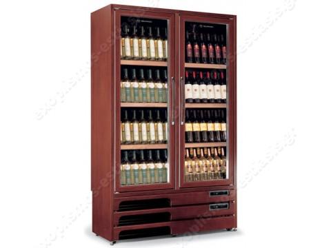 Ψυγείο βιτρίνα κρασιών διπλής θερμοκρασίας ENOPRESTIGE 600 2TV TECFRIGO